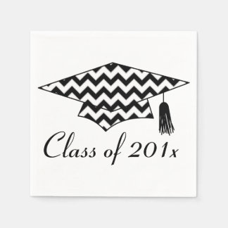 Chevron Print Custom Year Graduation Napkins Disposable Napkin