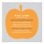 Chevron Pumpkin Halloween Party Invite