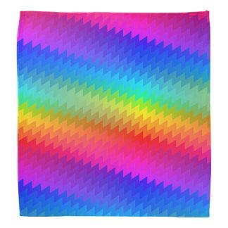 Chevron rainbow bandana