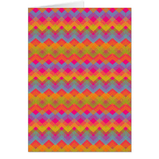 Chevron Rainbow Pattern Card