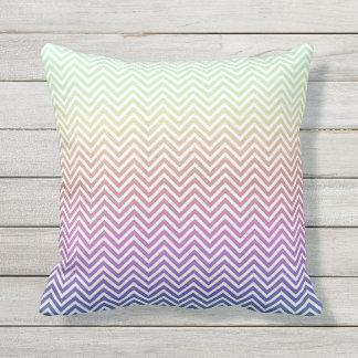 Chevron Rainbow Pillow