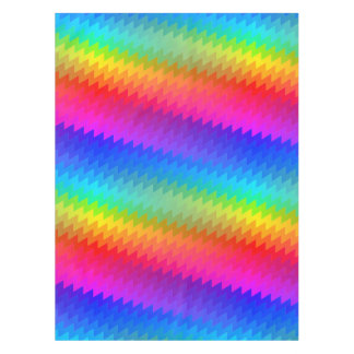 Chevron rainbow tablecloth