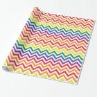 Chevron Rainbow Wrapping Paper