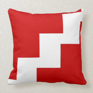 Chevron Red and White Toss Pillow