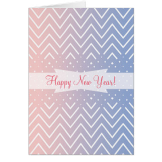Chevron rose quartz serenity personalized text card