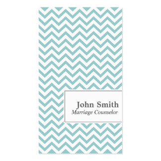 Chevron Stripes Marriage Counseling Business Card