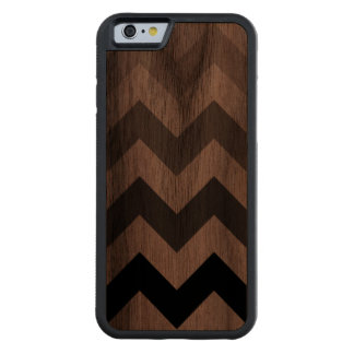 chevron stripes walnut iPhone 6 bumper