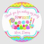 Chevron Sweet Shoppe Sticker
