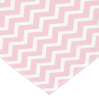 Chevron Table Runner | Pink and White