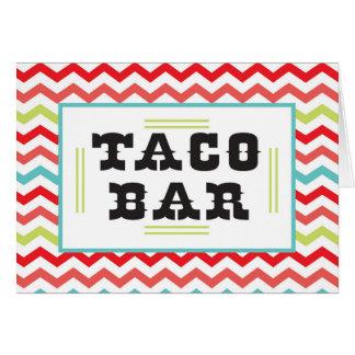 Chevron Taco Bar Food Tent Cards