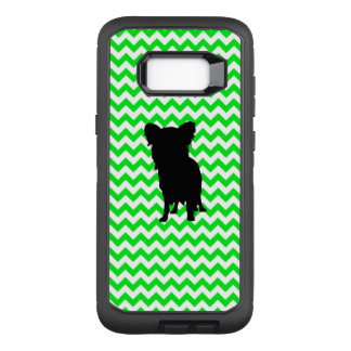 Chevron vert irlandais avec la silhouette de coque samsung galaxy s8+ par OtterBox defender