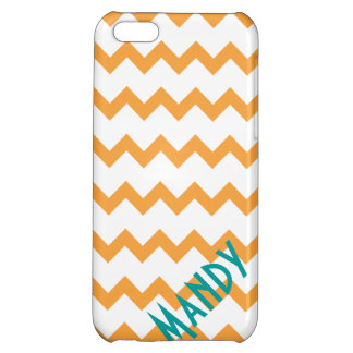 chevron vintage orange retro iphone 5 case cover