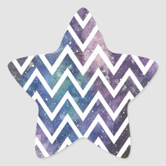 Chevron Watercolor Nebula Sticker