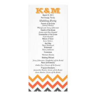 Chevron Wedding Programs