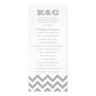 Chevron Wedding Programs Rack Card Design
