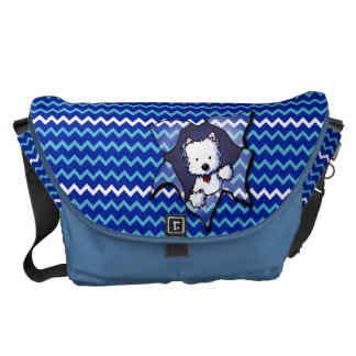 Chevron Westie BLAST Messenger Bag