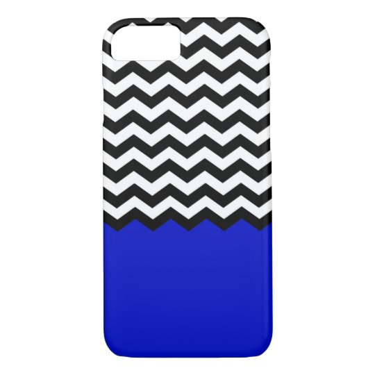 Chevron With Coloured Bottom (Blue) iPhone 7 Case
