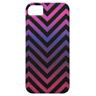 Chevron with Pink Blue Purple and Black iPhone 5 Cover