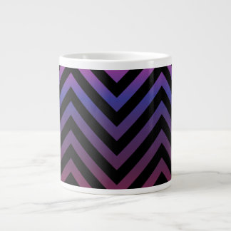 Chevron with Pink Purple and Black Large Coffee Mug