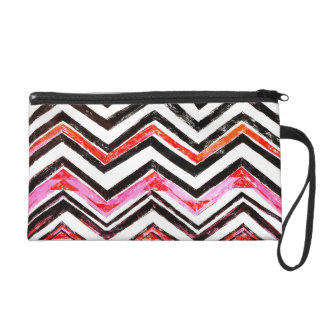 Chevron Wristlet Clutch