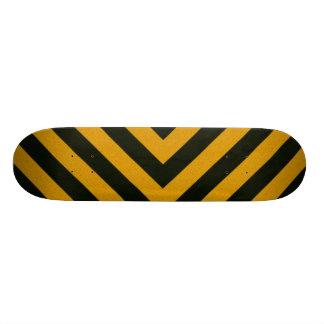 Chevron Yellow Black Hazard Stripes Skate Boards