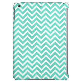 Chevron Zig Zag in Tiffany Aqua Blue iPad Air Case