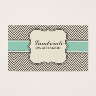 Chevron Zig Zag Pattern Elegant Professional Beige Business Card