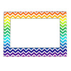 Chevron Zig Zag Pattern in Bright Rainbow Colours Magnetic Frame
