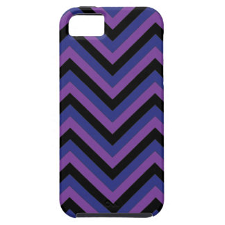 Chevron Zig Zag Purple Black and Blue Pattern iPhone 5 Case