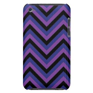 Chevron Zig Zag Purple Black and Blue Pattern iPod Touch Covers