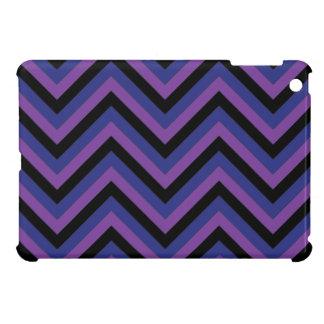 Chevron Zig Zag Purple Black and Blue Pattern Cover For The iPad Mini