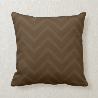 Chevron Zig-Zag Shades of Brown Throw Pillow