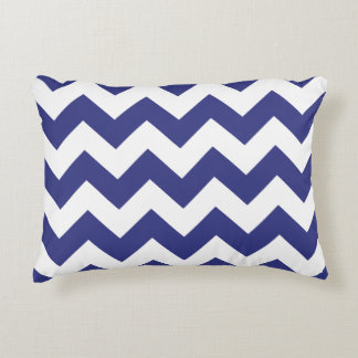 Chevron Zigzag Accent Pillow - Royal Blue
