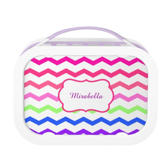 chevron zigzag colorful pattern lunch boxes