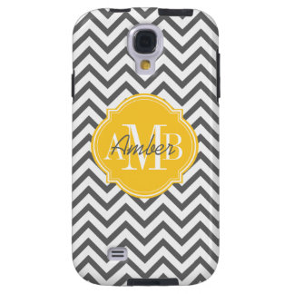 Chevron Zigzag Gray Pattern Monogram