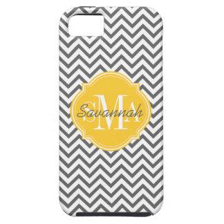Chevron Zigzag Gray Pattern Monogram iPhone 5 Covers