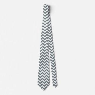 Chevron Zigzag Lines Dull Silver Tie