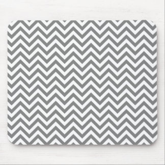 Chevron Zigzag Pattern Gray and White Mouse Pad