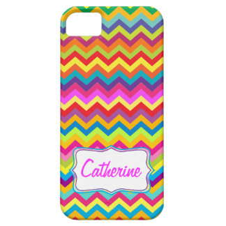 Chevron zigzag pattern multi-colored iphone case