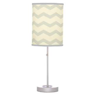 chevron zigzag pattern -  olive grey table lamp