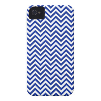 Chevron Zigzag Pattern Royal Blue and White iPhone 4 Covers