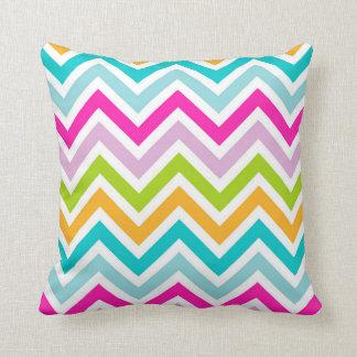 "Chevrons Stripe Colorful Throw Pillow 16"" x 16"""