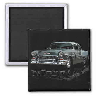 Chevy 1955 square magnet