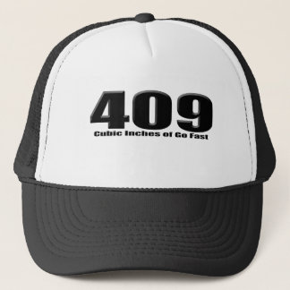chevy 409 cubic inch big block impala trucker hat