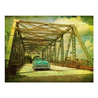 Chevy Belair Entering Bridge Postcard