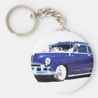 Chevy bleu porte-clé rond