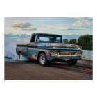 Chevy C10 Burnout Poster