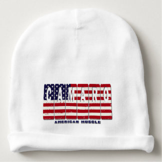 Chevy Camaro Chevrolet Patriotic Muscle Car Flag Baby Beanie