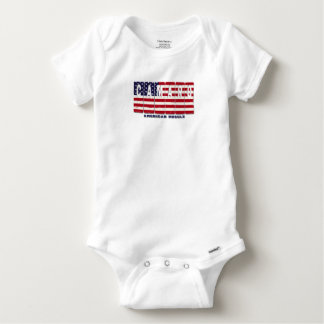 Chevy Camaro Chevrolet Patriotic Muscle Car Flag Baby Onesie