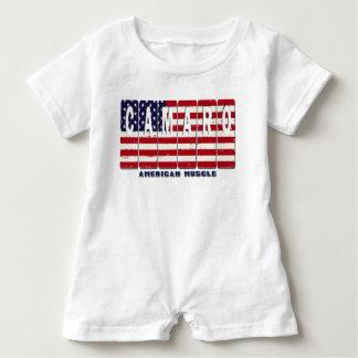 Chevy Camaro Chevrolet Patriotic Muscle Car Flag Baby Romper
